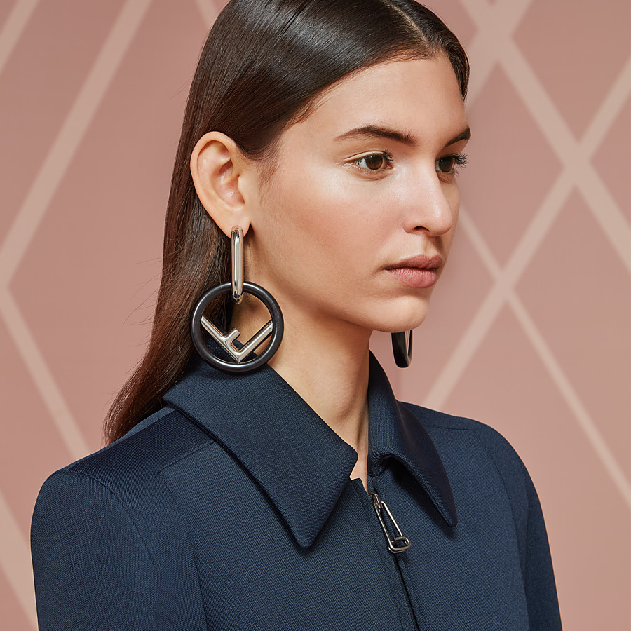 FENDI F IS FENDI EARRINGS - Black earrings - view 2 detail