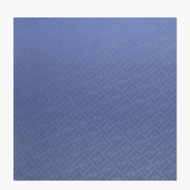 FENDI STOLA - Stola in seta blu - vista 1 dettaglio