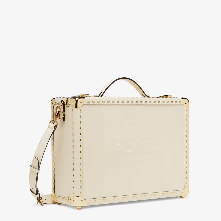 FENDI TRAVEL CASE MEDIUM - White leather suitcase - view 2 detail