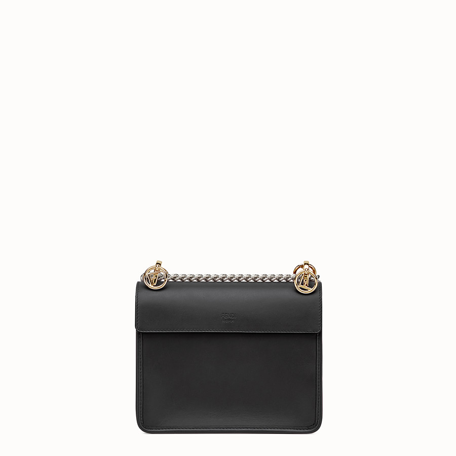 9b6bd2c24b Minibag in pelle nera - KAN I F PICCOLA | Fendi