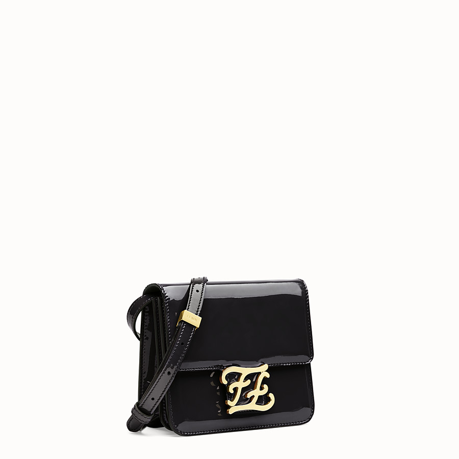 FENDI KARLIGRAPHY - Black patent leather bag - view 3 detail