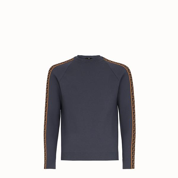 FENDI PULLOVER - Grey wool jumper - view 1 small thumbnail