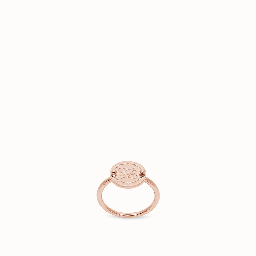 FENDI KARLIGRAPHY RING - Rose gold-colour ring - view 1 detail
