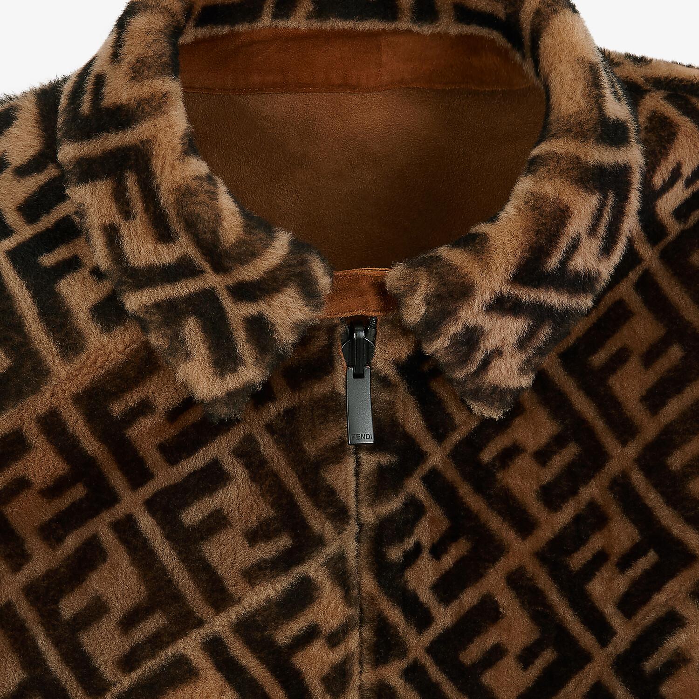 FENDI BLOUSON JACKET - Jacket in brown shearling - view 3 detail