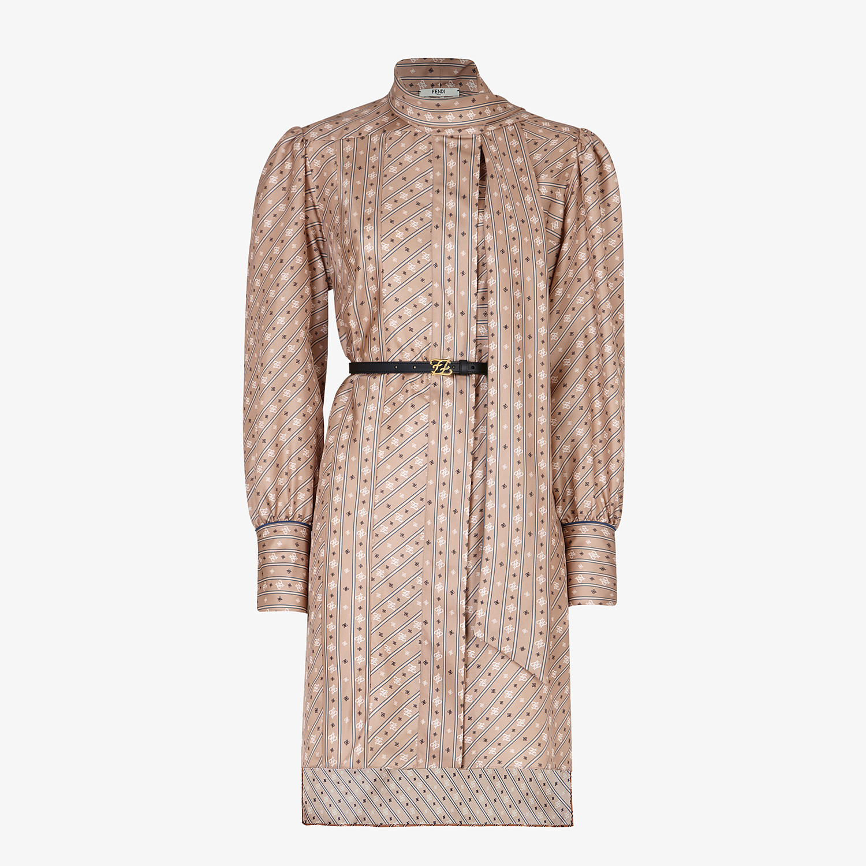 FENDI DRESS - Beige silk dress - view 1 detail