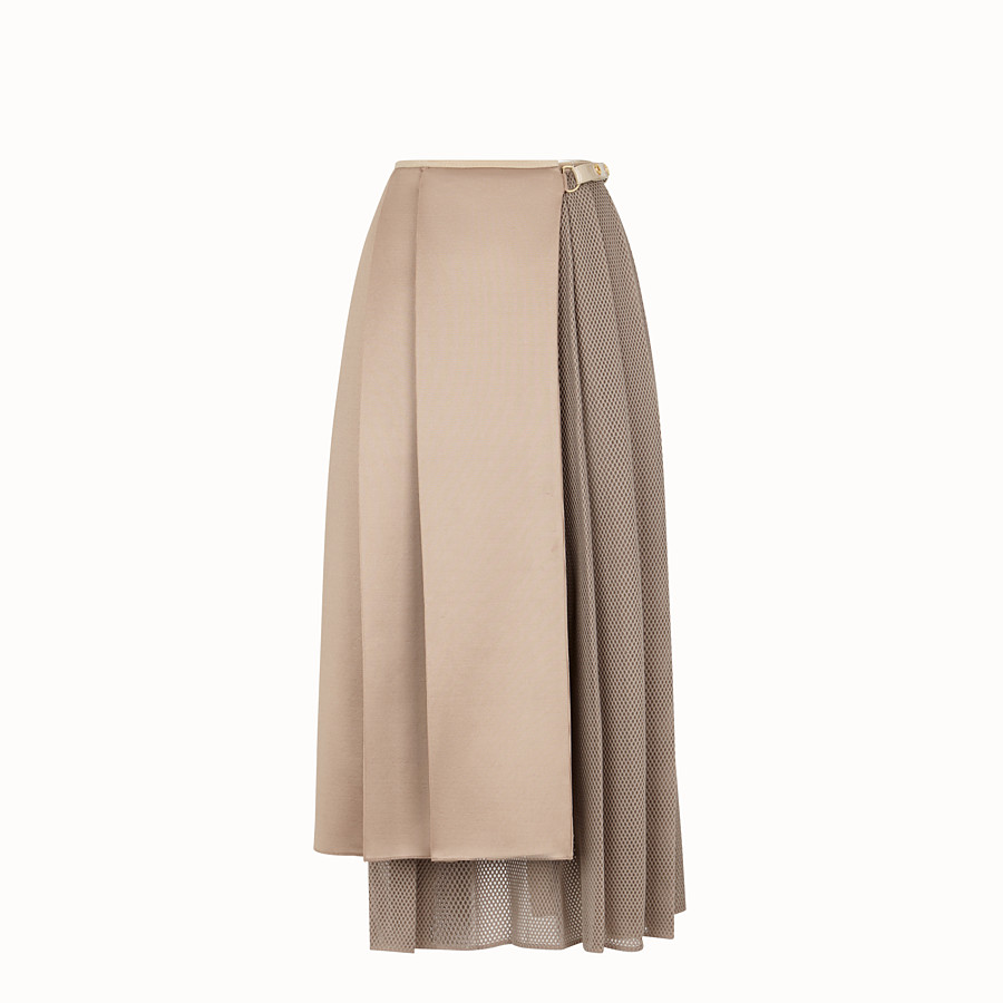 FENDI SKIRT - Beige jersey skirt - view 1 detail