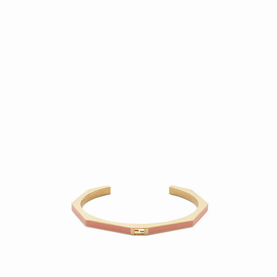 FENDI BAGUETTE BRACELET - Polished pink Baguette bangle - view 1 detail