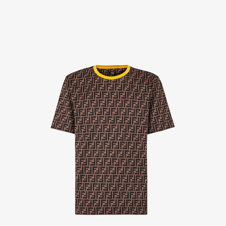 FENDI T-SHIRT - Brown cotton T-shirt - view 1 detail