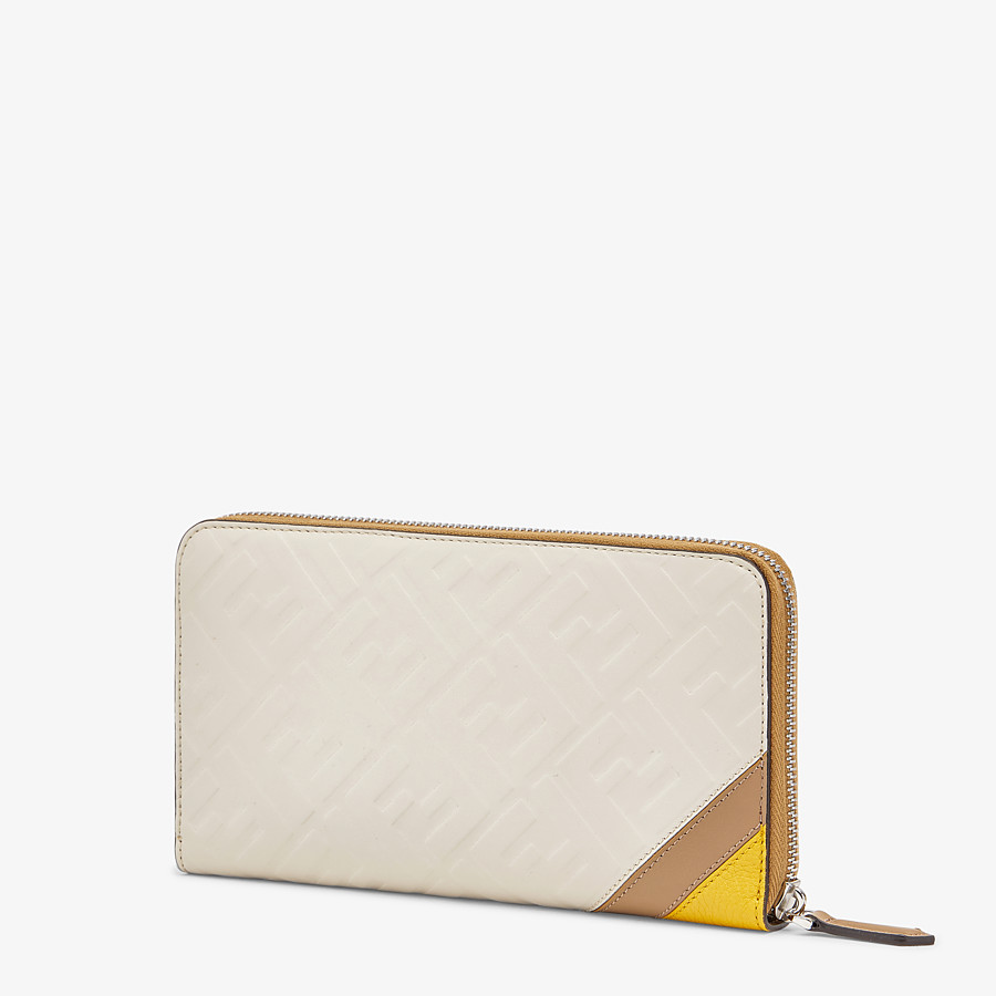 FENDI CONTINENTAL - White leather wallet - view 2 detail