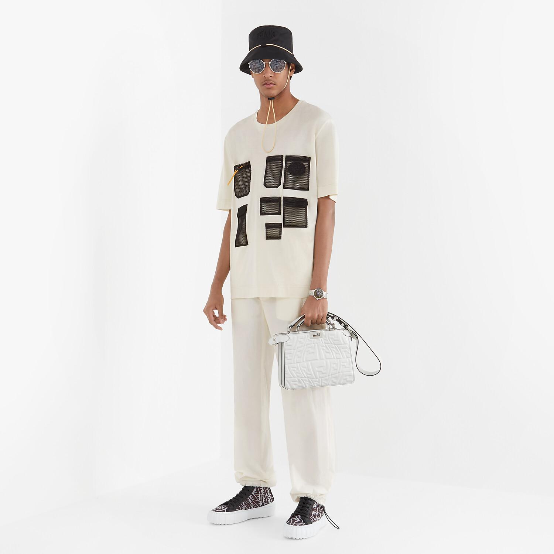 FENDI PANTS - White cotton pants - view 4 detail