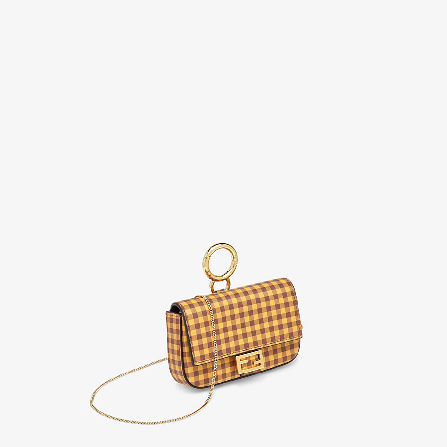 FENDI NANO BAGUETTE CHARM - Brown leather charm - view 3 detail