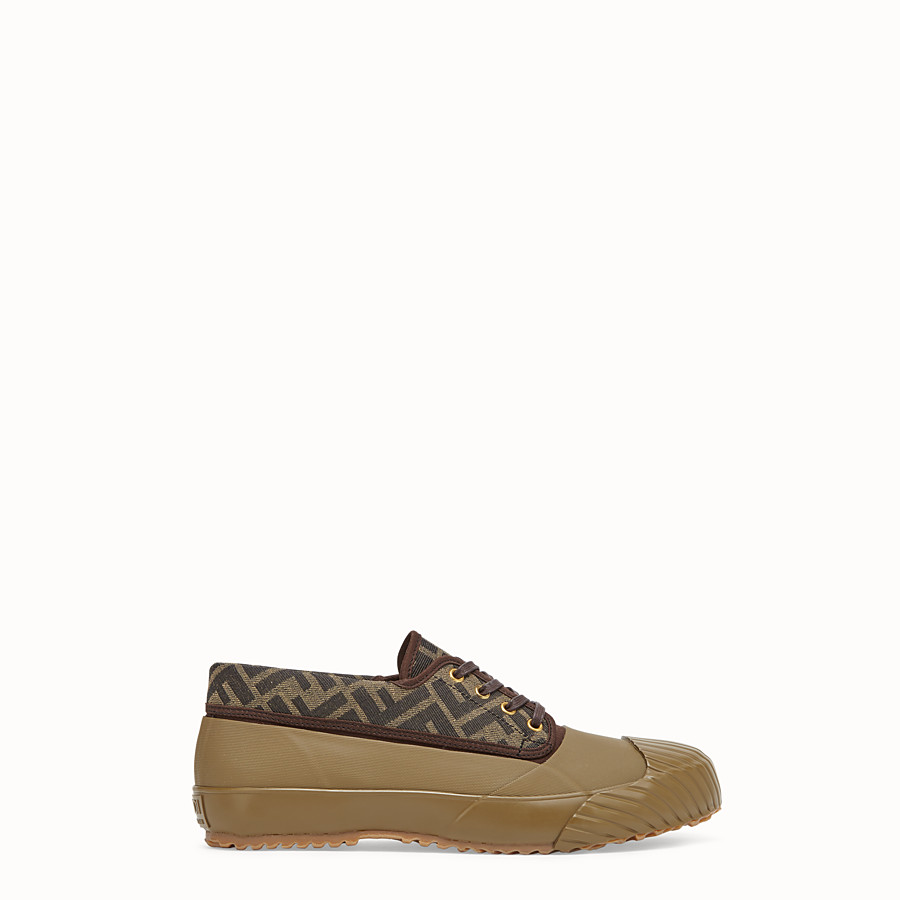 FENDI FENDI AND MOONSTAR SNEAKERS - Multicolour canvas and rubber low-tops - view 1 detail