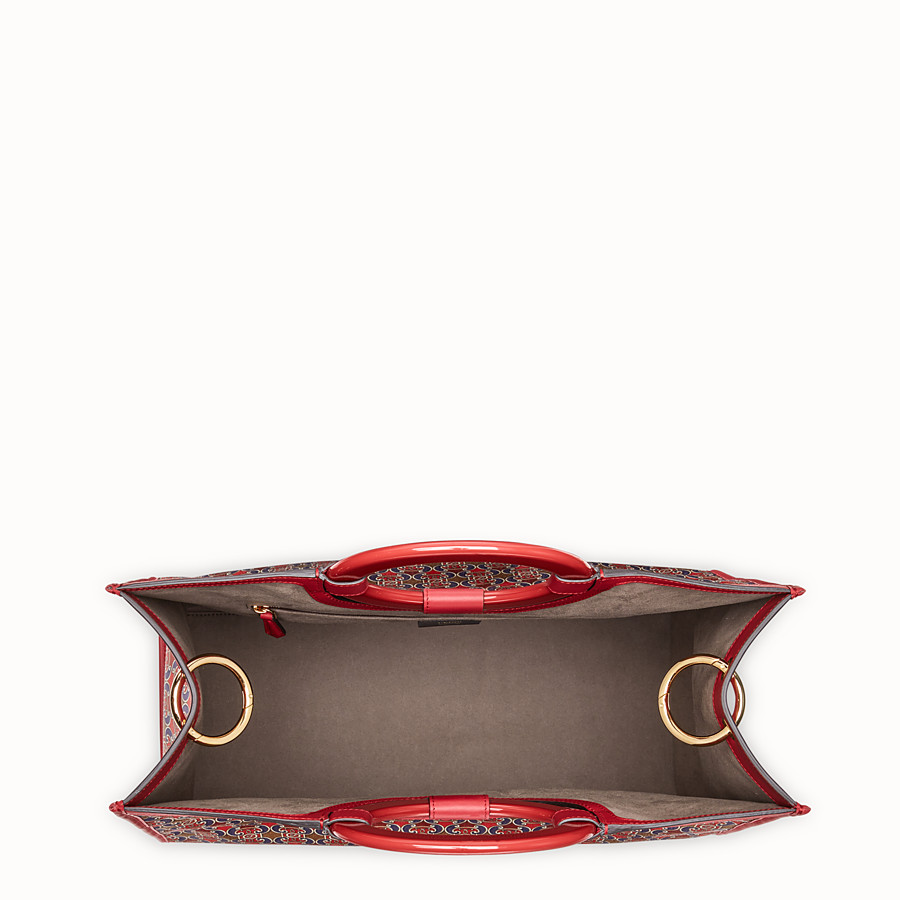 FENDI RUNAWAY SHOPPER - Multicolour satin shopper - view 4 detail