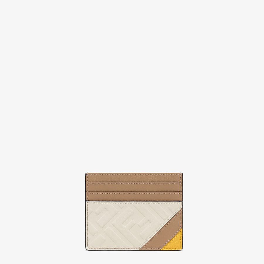 FENDI CARD HOLDER - White leather card holder - view 1 detail