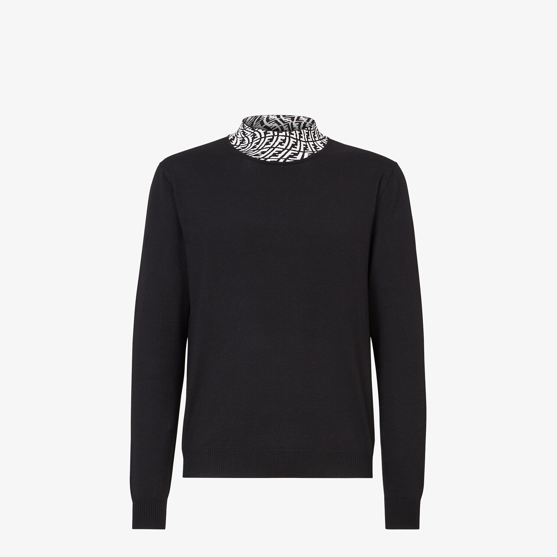FENDI TURTLENECK - Black wool jumper - view 1 detail
