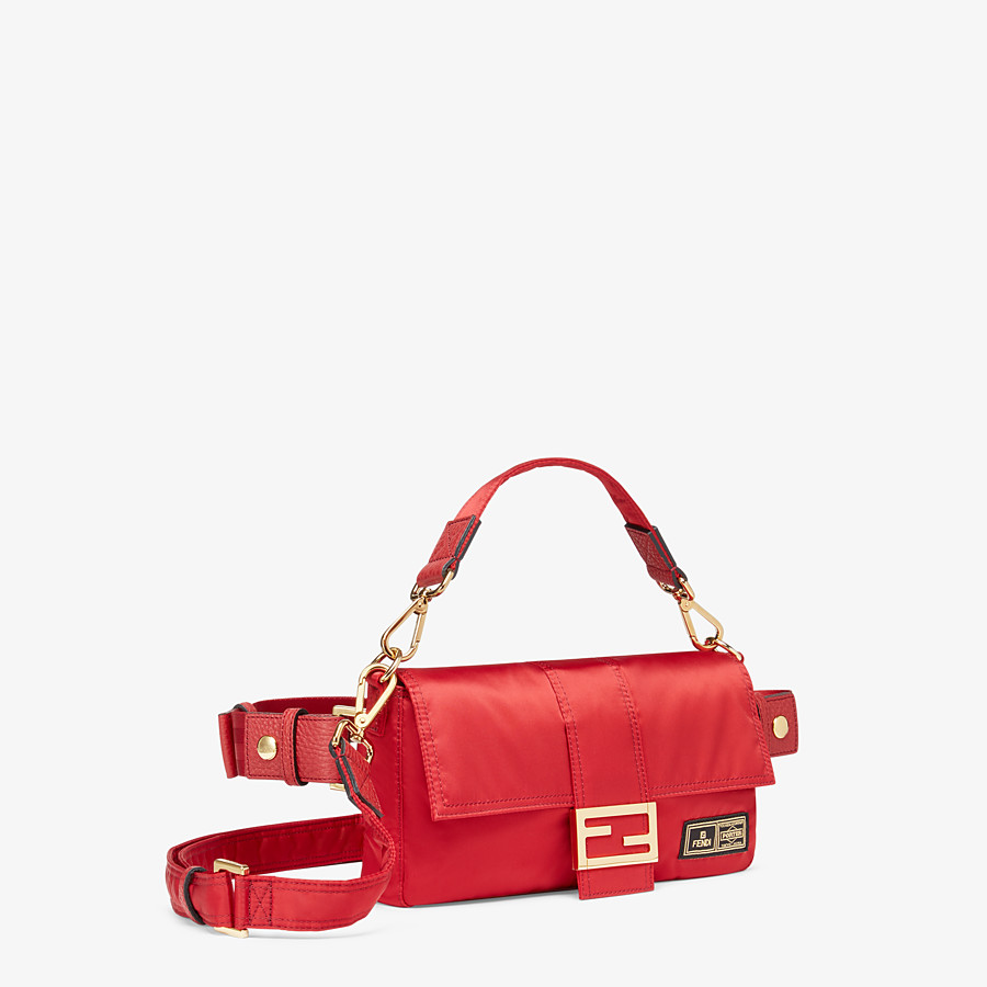 FENDI BAGUETTE FENDI AND PORTER - Red nylon bag - view 2 detail