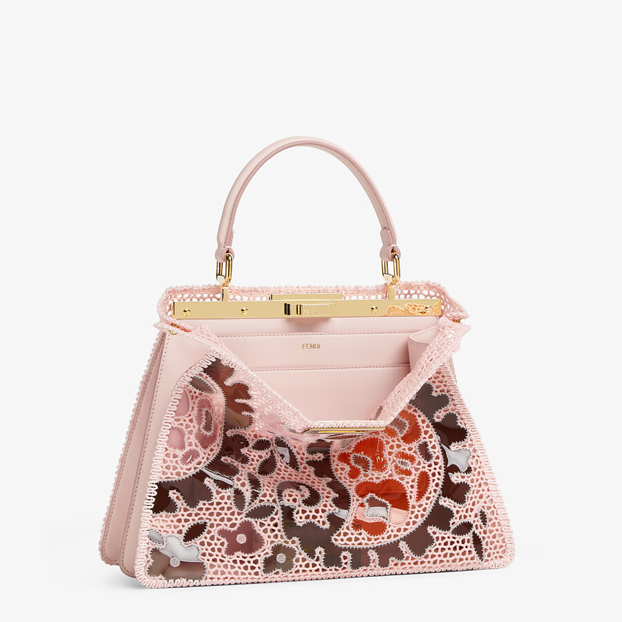 FENDI MEDIUM PEEKABOO ISEEU - Pink lace bag - view 5 detail