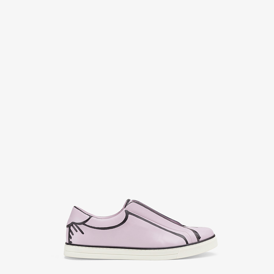 FENDI SNEAKERS - Fendi Roma Joshua Vides nappa leather slip-ons - view 1 detail