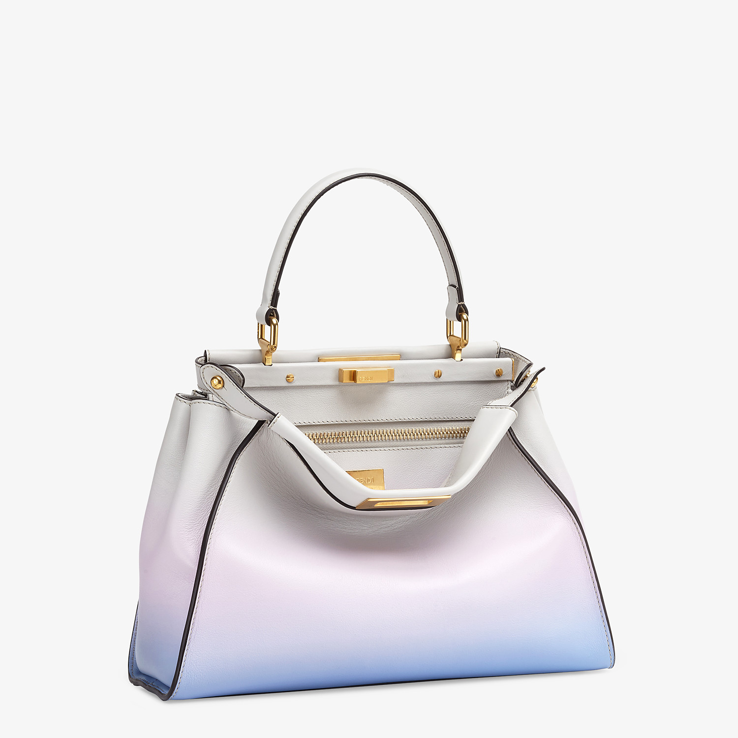 FENDI PEEKABOO ICONIC MEDIUM - Leather bag in graduated colors - view 3 detail