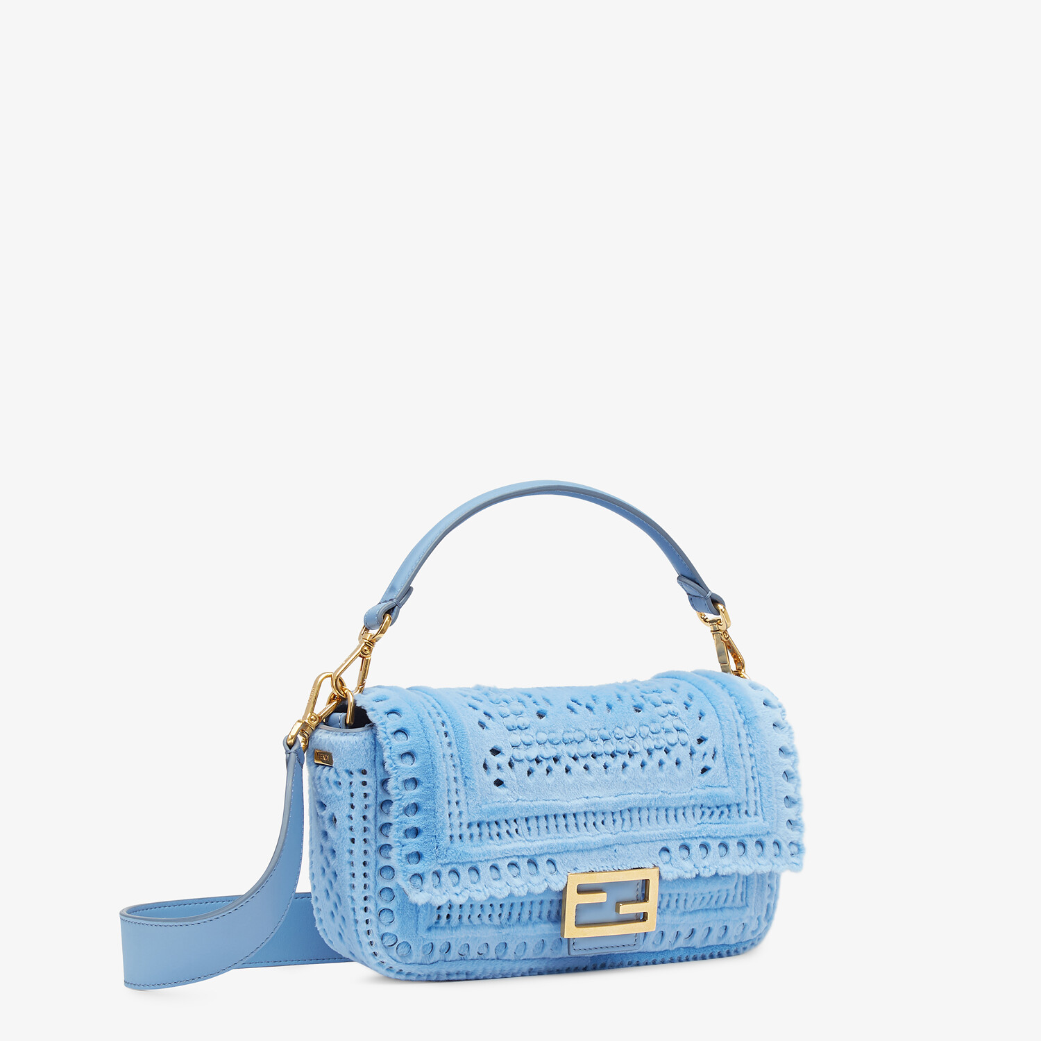FENDI BAGUETTE - Blue mink bag - view 2 detail