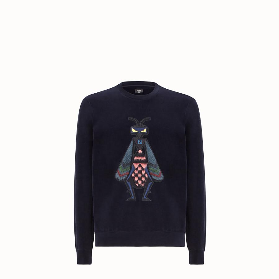FENDI 運動衫 - 藍色繩絨毛衣 - view 1 detail