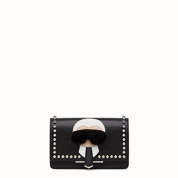 FENDI KARLITO WALLET ON CHAIN - Black leather wallet - view 1 small thumbnail