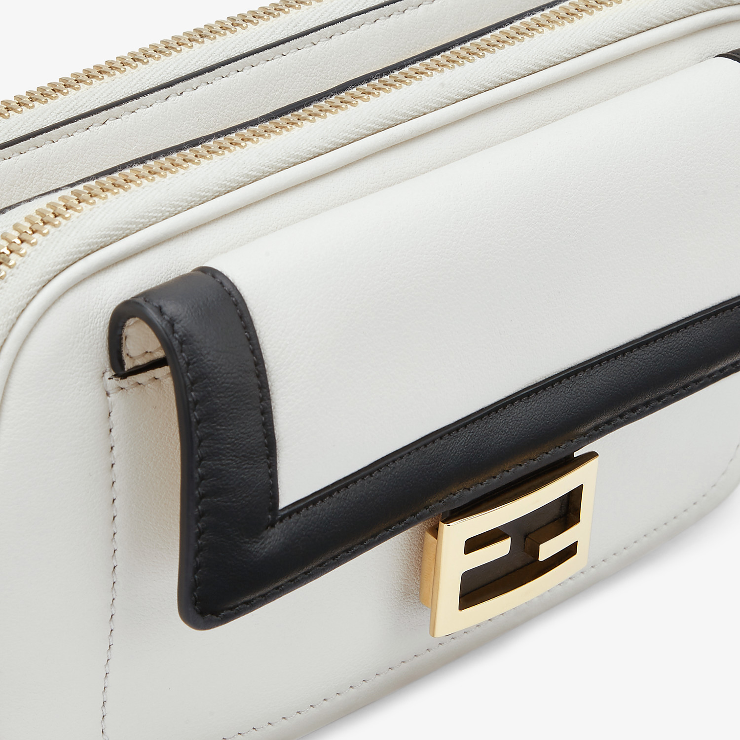 FENDI EASY 2 BAGUETTE - White leather mini bag - view 6 detail