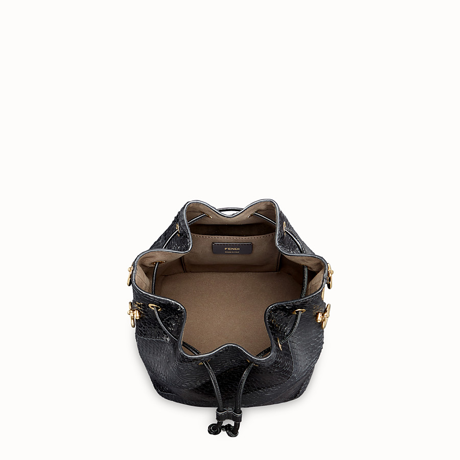 FENDI MON TRESOR - Black elaphe bag - view 4 detail