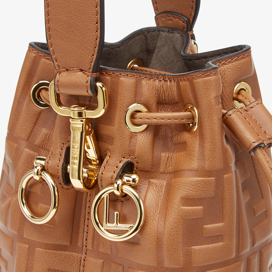 FENDI MON TRESOR - Brown leather mini-bag - view 6 detail