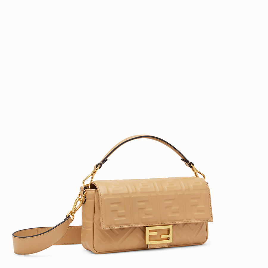 FENDI BAGUETTE - Beige leather bag - view 2 detail