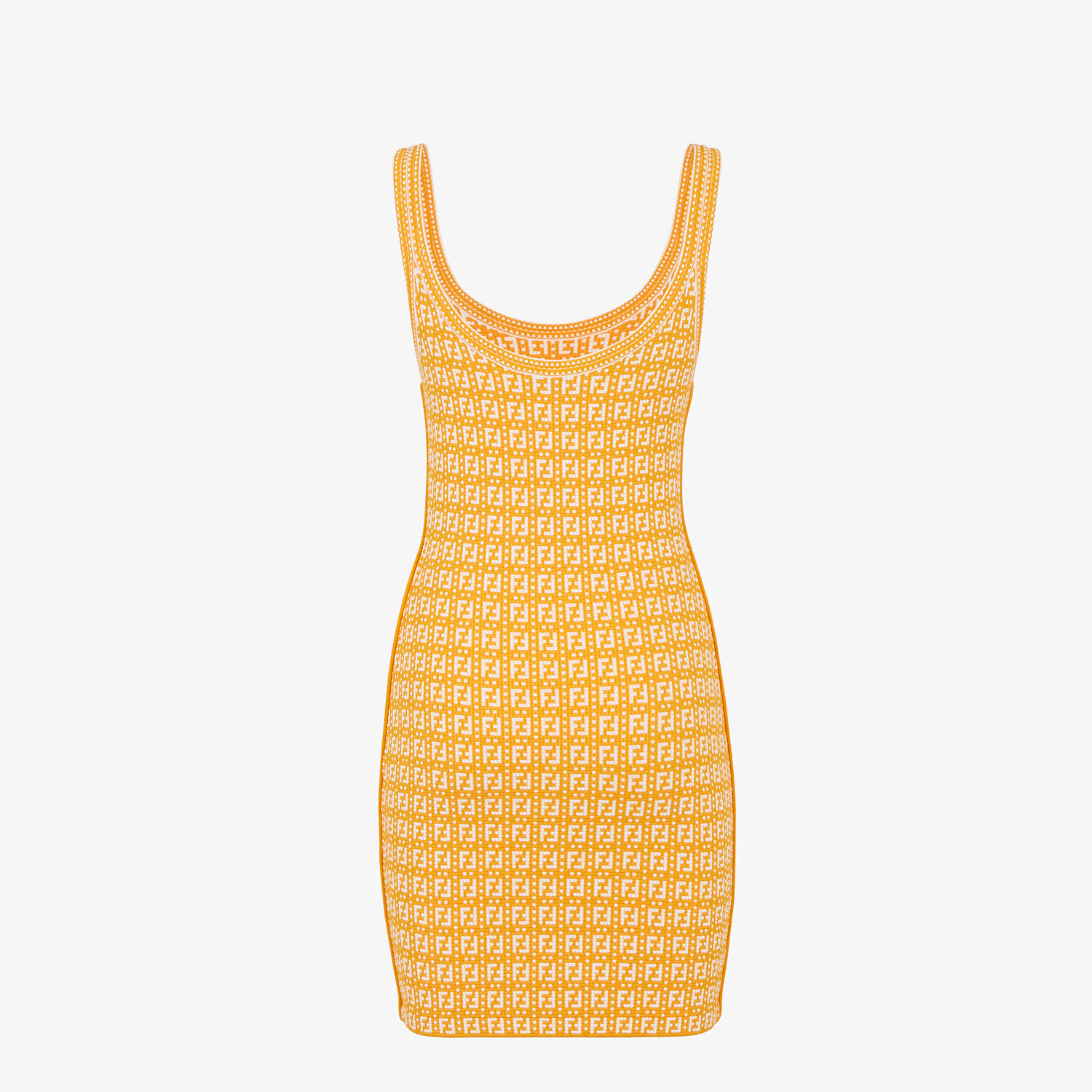 FENDI DRESS - Orange viscose dress - view 2 detail