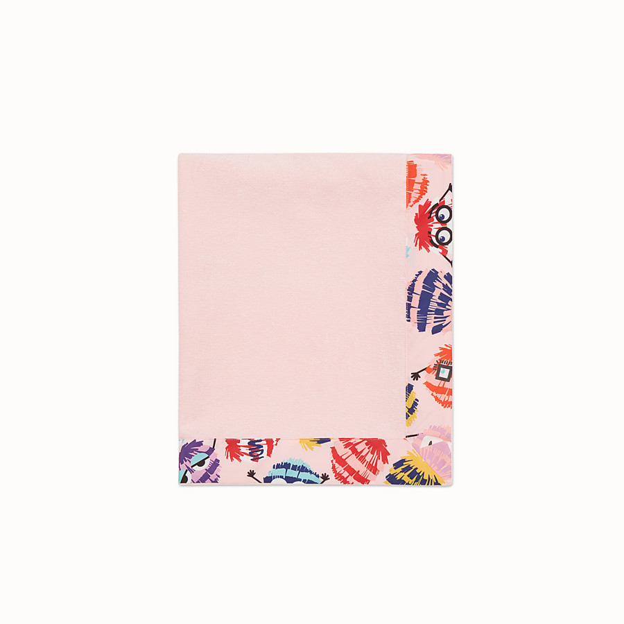 FENDI BEACH MAT - Pink and multicolour beach mat - view 2 detail