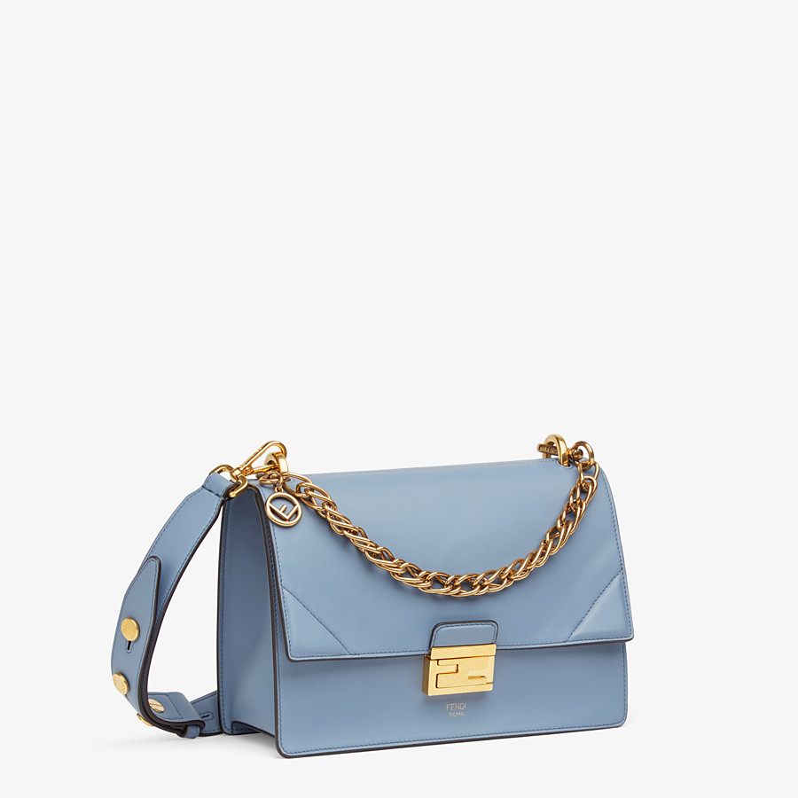 FENDI KAN U - Light blue leather bag - view 3 detail
