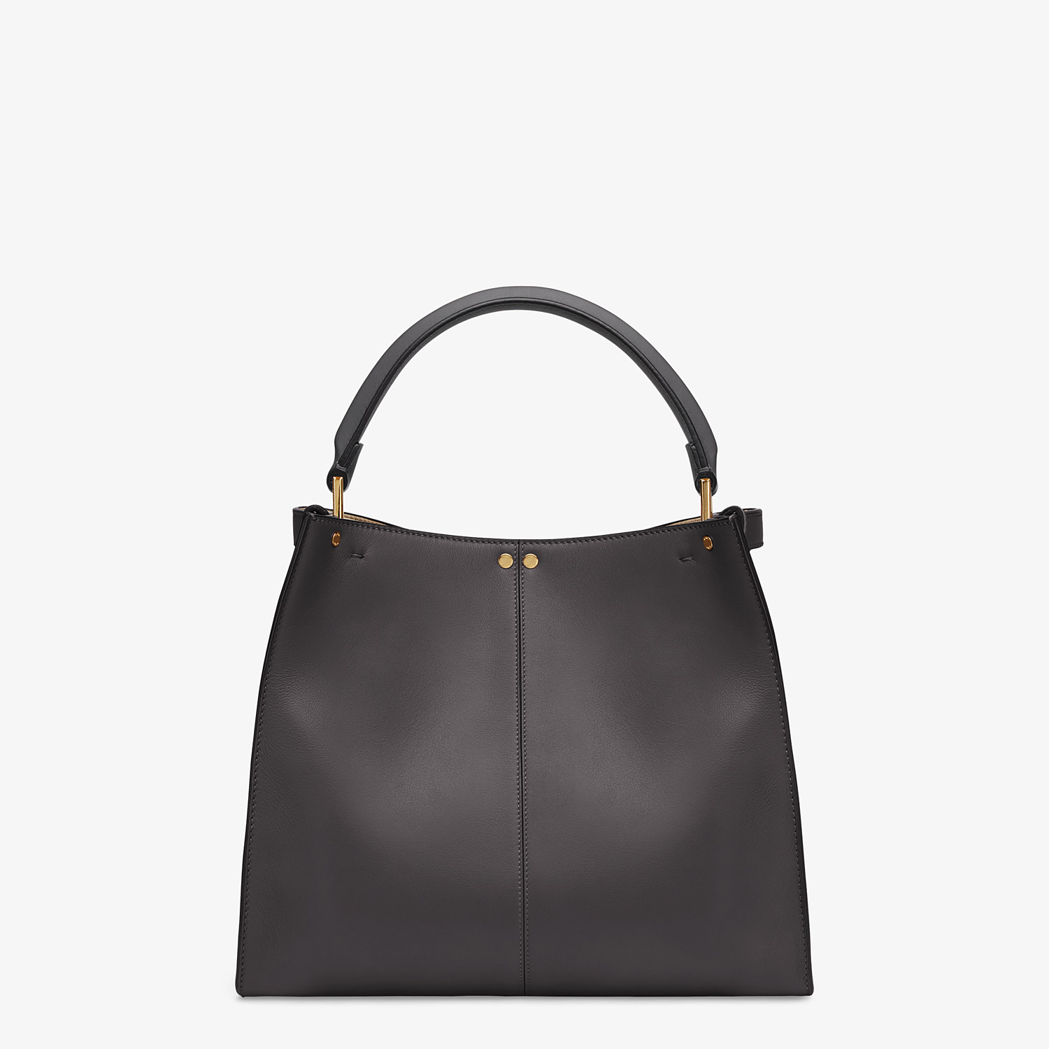 FENDI MEDIUM PEEKABOO X-LITE - Black leather bag - view 4 detail