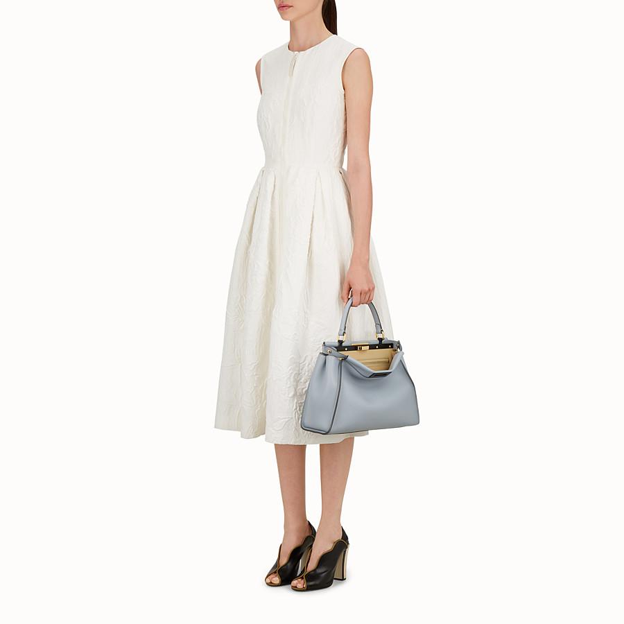FENDI PEEKABOO REGULAR - slate-grey leather handbag - view 5 detail