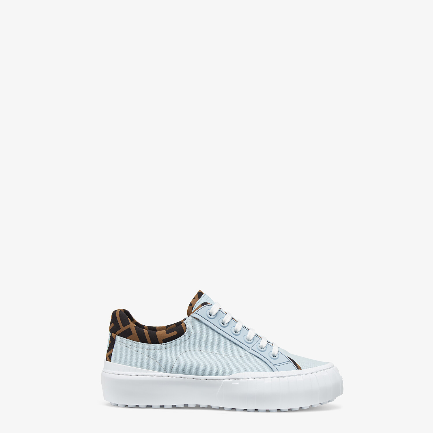 FENDI FENDI FORCE - Light blue canvas and TPU low-tops - view 1 detail