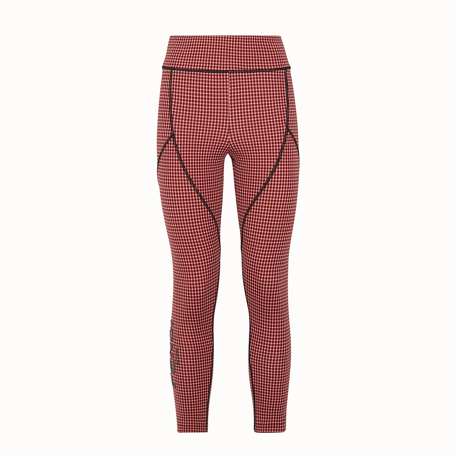 FENDI LEGGINGS - Multicolor tech fabric pants - view 1 detail