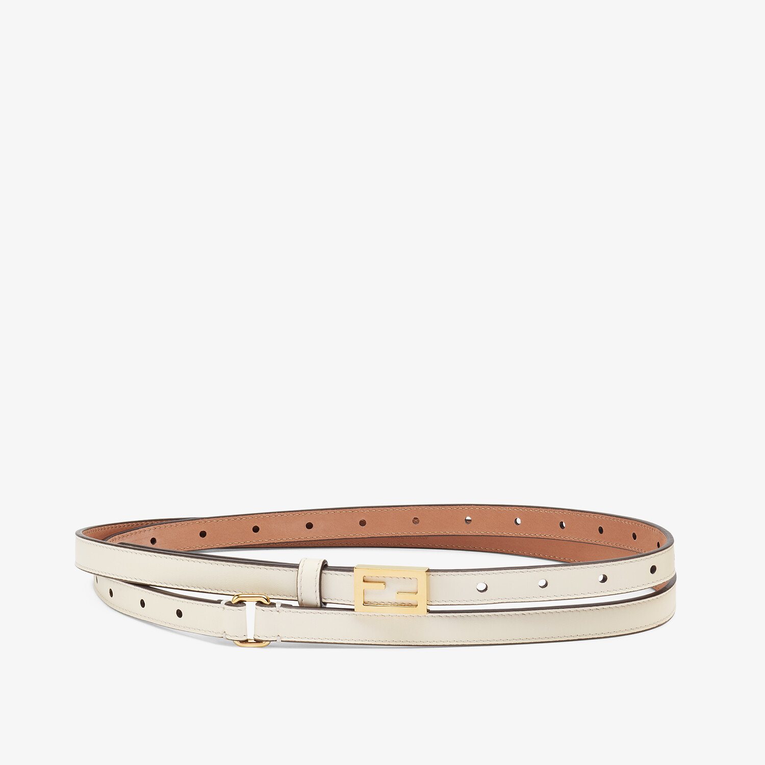 FENDI BELT - White leather belt - view 1 detail