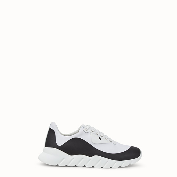 FENDI SNEAKERS - White tech fabric low-tops - view 1 small thumbnail