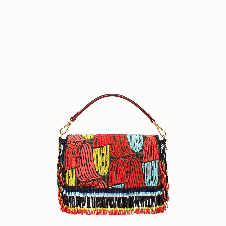 FENDI BAGUETTE - Fendi Roma Amor fabric bag - view 4 detail