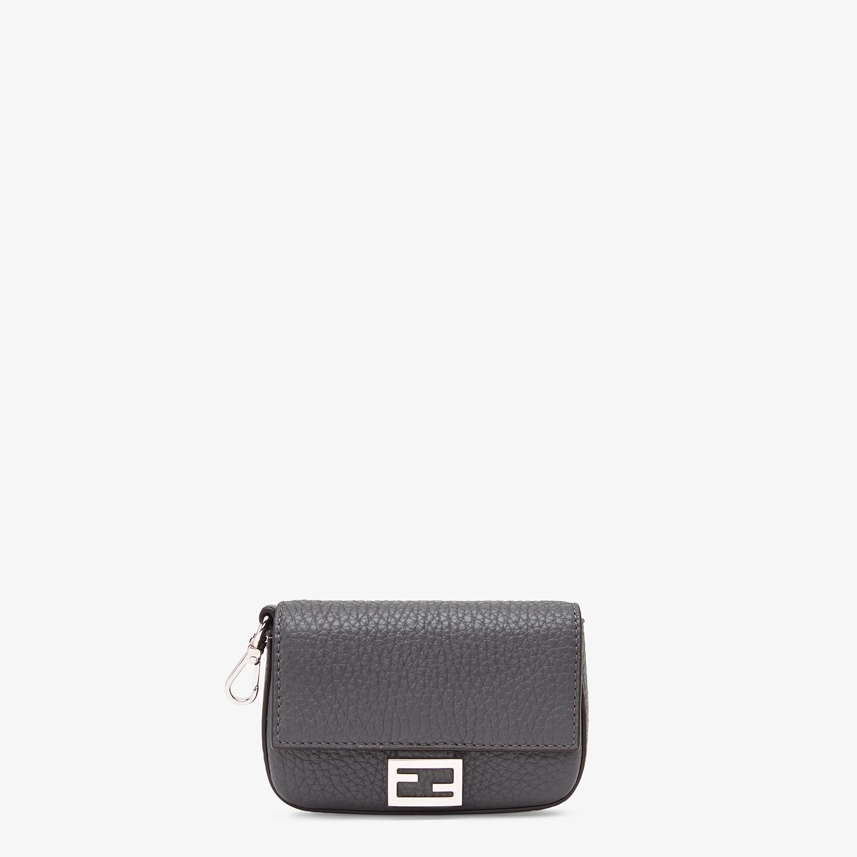 FENDI NANO BAGUETTE CHARM - Grey leather charm - view 1 detail