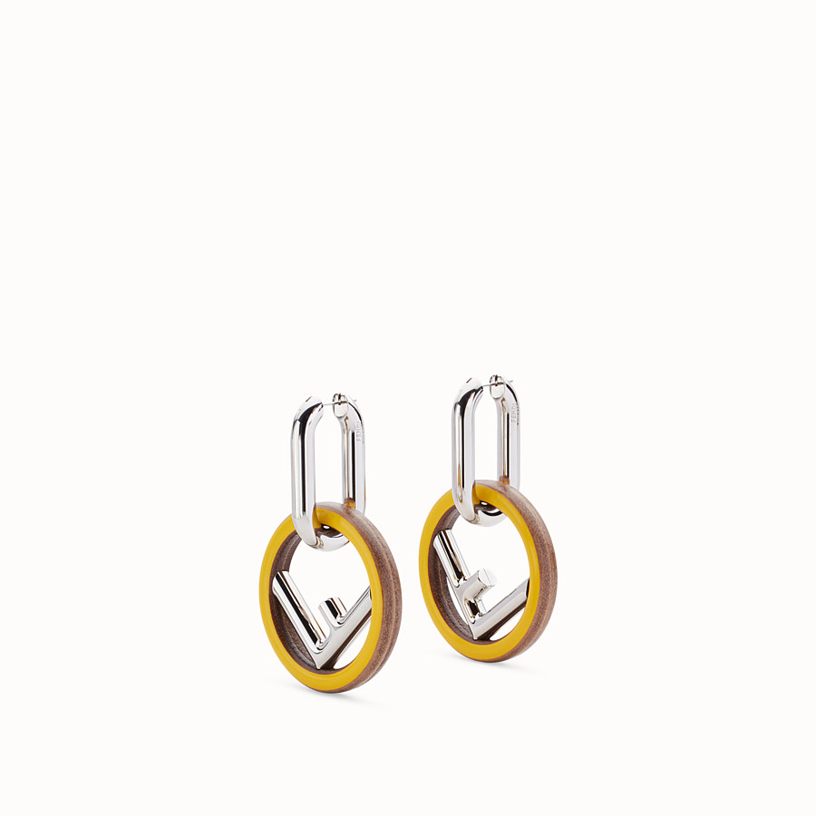 FENDI F IS FENDI EARRINGS - Yellow earrings - view 1 detail