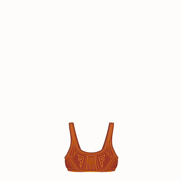 FENDI TOP - Brown lycra top - view 1 small thumbnail