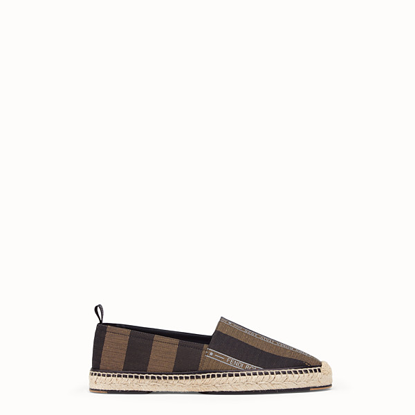 FENDI ESPADRILLES - Brown fabric espadrilles - view 1 small thumbnail