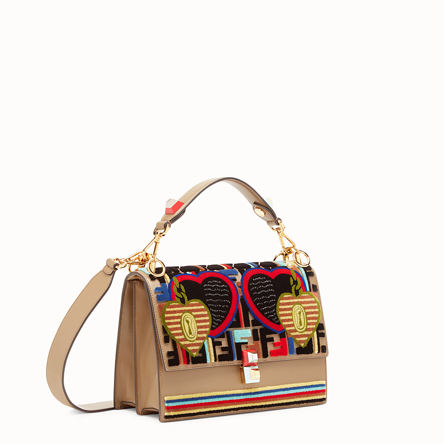 FENDI KAN I - Multicolor leather and fabric bag - view 2 detail