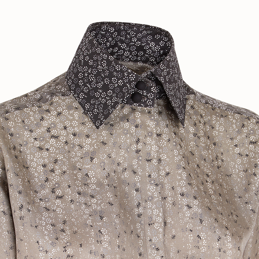 FENDI SHIRT - Beige twill shirt - view 3 detail