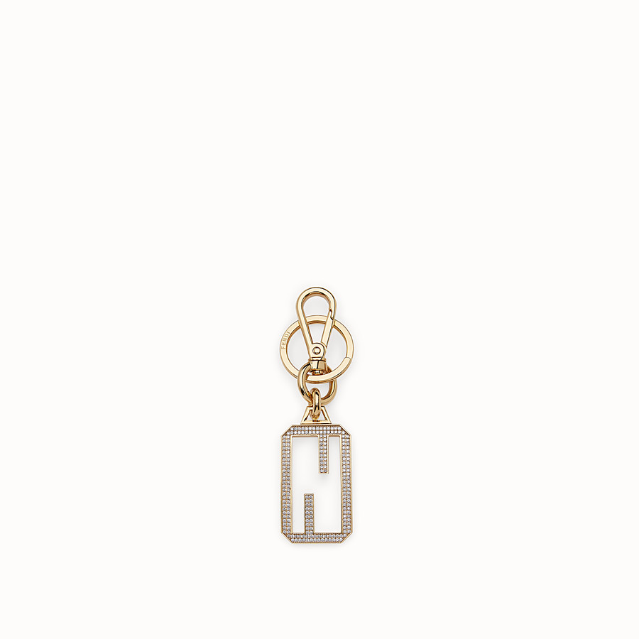 FENDI KEY-CHARMS BAGUETTE - Golden metal key ring - view 1 detail