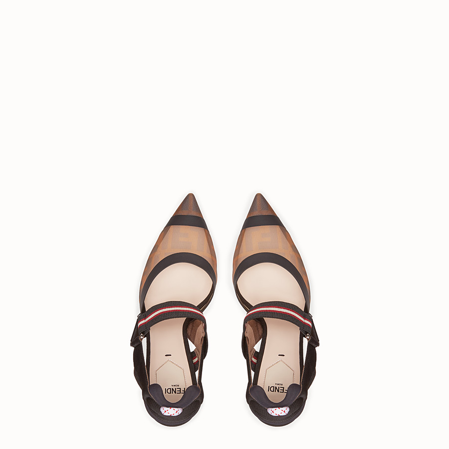 FENDI SLINGBACK - Multicolour technical-mesh colibrì - view 4 detail