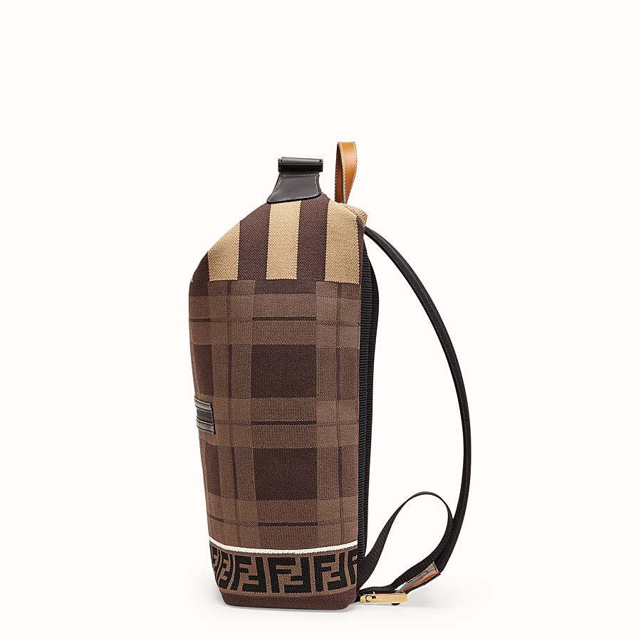 FENDI BACKPACK - Tartan tech knit backpack - view 2 detail