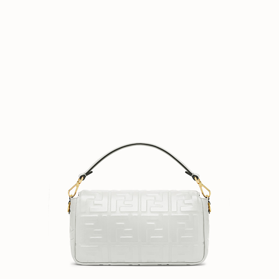 FENDI BAGUETTE - White leather bag - view 3 detail
